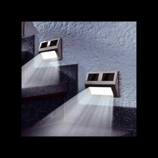 Falra szerelhető kültéri napelemes lámpa (4 db)
