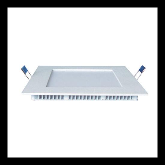 LED panel , 18W ,  süllyesztett , négyzet , természetes fehér , Epistar chip , LEDISSIMO