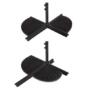 Kép 3/4 - Függő napernyő, 2,7m, piros